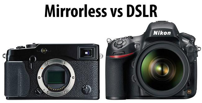 DSLR vs Máy ảnh không gương lật